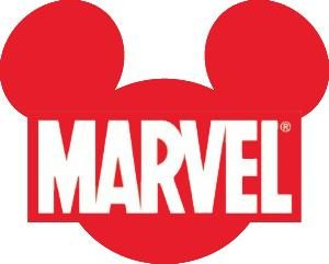 Marvel logo with Mickey silhouette