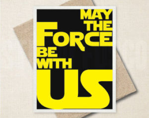 May the Force be with us - stylized font