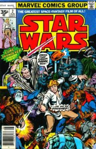 STAR WARS {1st Marvel Series} #2 newsstand 35 cents