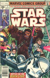 STAR WARS {1st Marvel Series} #3 newsstand 35 cents