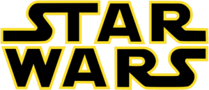 Star Wars logo - black highlighted in yellow on white