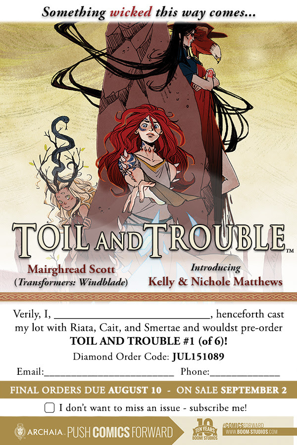 THE THIRD WITCH Is Now TOIL AND TROUBLE