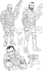 WE STAND on GUARD #1 sketch page 1