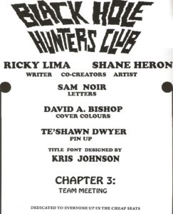 BLACK HOLE HUNTERS CLUB #3 credits