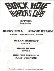 BLACK HOLE HUNTERS CLUB #5 credits