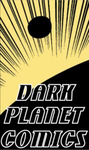 Dark Planet Comics logo - yellow