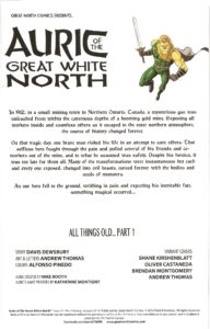 AURIC of the GREAT WHITE NORTH #1 intro