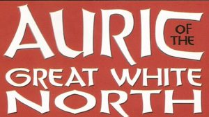AURIC of the GREAT WHITE NORTH #1 logo (red background)