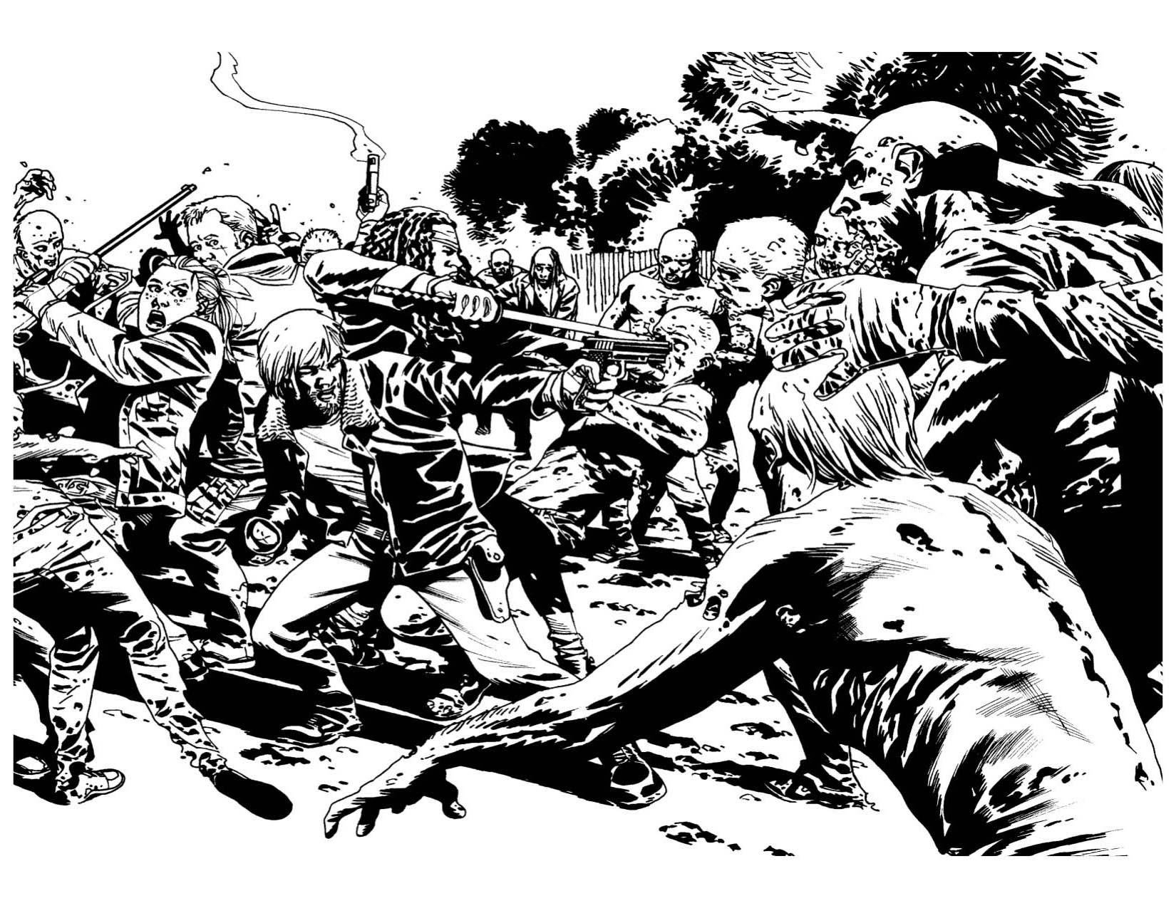 walking dead zombies coloring pages - photo#15